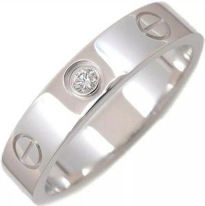 Cartier 1 Diamond White Gold Wedding Ring 3.5mm